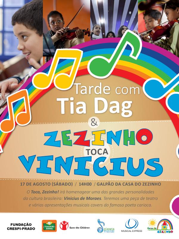 convite espetáculo Toca, Zezinho!